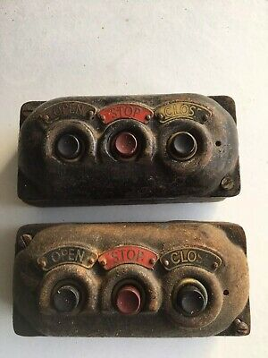 Vintage Switch Switches Open Close Stop