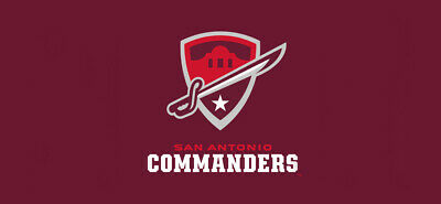 2f55fd05518 AAF Football San Antonio Commanders Embroidered Mens Polo XS-6XL