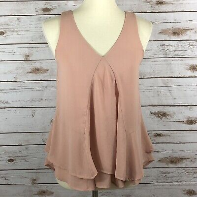189f6daf10a84e Anthropologie Sunday in Brooklyn Women s Size Small Draped Tiered Sleeveless  Top