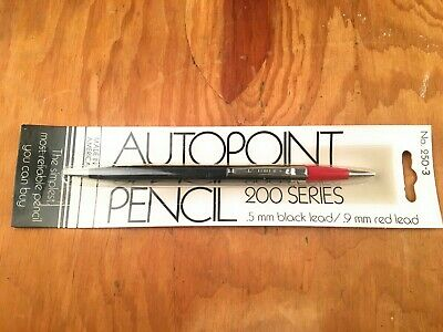 AutoPoint 250-3 Mechanical Pencil TwinPoint Double Sided .5mm Red Black Lead USA