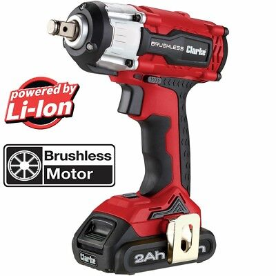 """Latest CLARKE CIR18LIC 18V BRUSHLESS 2AH ½"""" BATTERY ELECTRIC IMPACT WRENCH"""