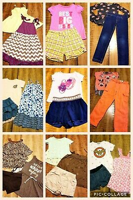 Lot Of 26 Pc Girls Sz 4/5 Spring Summer Clothes Outfits