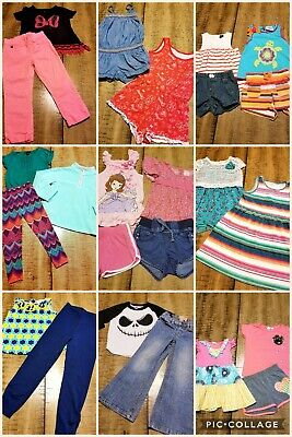 Lot Of 28 Pc Girls Sz 4/5 Spring Summer Clothes Outfits