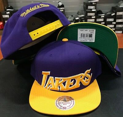 the latest dbd5b 2acf9 Mitchell   Ness Los Angeles Lakers Cropped XL logo TEAM snapback snap CAP  Hat