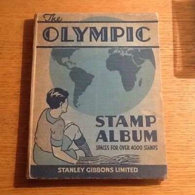 Olympic Stamp Album With Worldwide Coll Early To Mid Est 400-500 Plus Stamps
