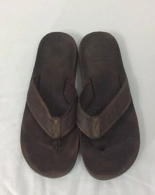 3ea49a8ab50 NORTH FACE Men s Flip Flop Sz 10 Brown Leather Casual Thong Flat Quality  Sandal
