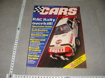 Cars and Car Conversions UK Nov. 1982 Audi quattro RAC Rally Mikkola Lancia 037