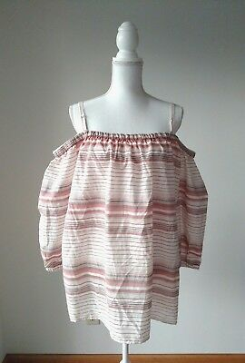 23f637a961860 NWT Absolutely Famous Women's Top Plus Size 3X Cold Shoulder Multicolor  Stripe