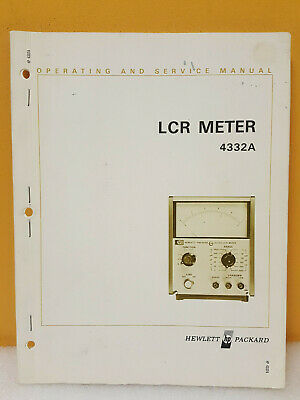 HP 4332A LCR Meter Operating & Service Manual - $12 95 | PicClick