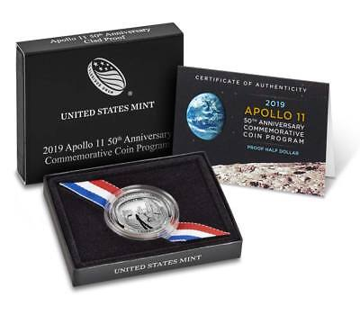 2019 Apollo 11 50th Anniversary PROOF Silver Half Dollar CLAD