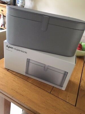 Boxed genuine Dyson Supersonic Hairdryer Storage case in Silver