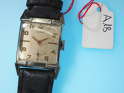 Vintage Elgin 10K Rolled Gold Usa-Werk 732 Art Deco Uhr Ca. 30/40Er Jahre Super
