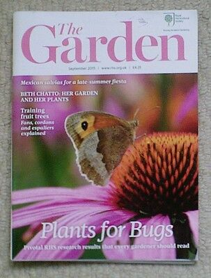 'The Garden' - September 2015 issue - RHS Royal Horticultural Society magazine