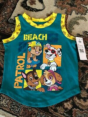 Nick Paw Patrol Beach Baby Toddler Boy Tank Sleeveless Summer Shirt 12 Months