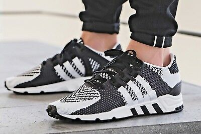 buy online c5e94 f64ee Adidas EQT Support RF PK Primeknit Core BlackVintage White BY9600 UK 10