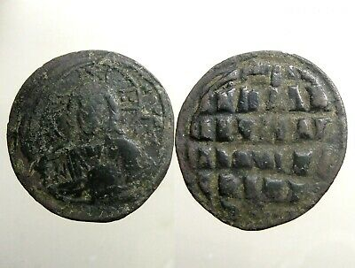 JOHN I / ANONYMOUS BRONZE AE31 FOLLIS_____Bust of Christ_____BYZANTINE EMPIRE