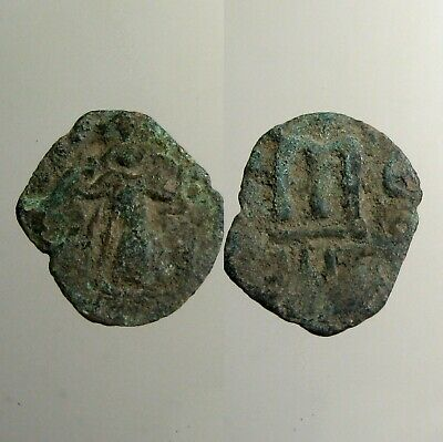 ARAB-BYZANTINE BRONZE FOLLIS__7th Century AD__1ST ARAB COINAGE__Historical Type