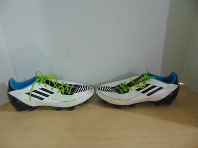 separation shoes 777a7 858b1 Soccer Shoes Cleats Mens Size 7.5 Adidas 750 White Black Blue 35.00