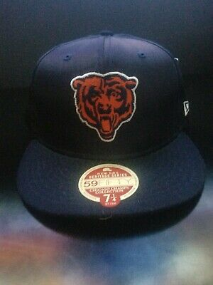 f5d06a03 Chicago Bears New Era Heritage Series NFL Cap 59FIFTY Fitted Wool Hat 7 1/4