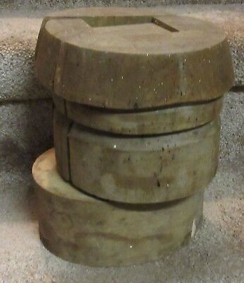B- vintage industrial hat maker's form/mould
