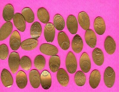 Various MISS ROLLED COPPER Error Elongated Smashed Penny Lot Crafts Guitar Picks