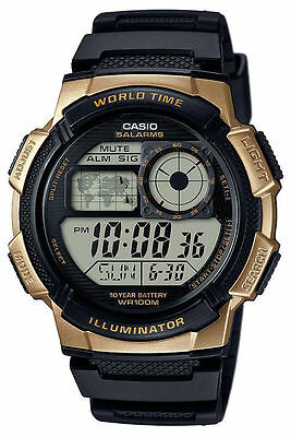 Casio AE1000W-1A3V, Digital Men's Watch, 100M, 5 Alarms, Chronograph, Resin