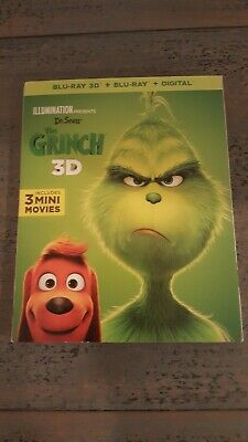 Dr Seuss' The Grinch 2D blu ray only w Slipcover (2019) , - No 3D, No Digital