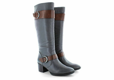472f493a987d NATURAL SOUL BY Naturalizer Gray   Brown Zahara Wide-Calf Size 9.5 M ...