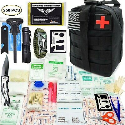 Tactical First Aid Kit Emergency for Camping Hunting Hiking Home Car Earthquake
