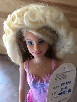 New 100/% Mohair Doll Wig Size 8-9 Style DIANNA Color Warm Brown Global Dolls
