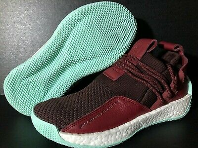 96877e0c6a2  160 Adidas James Harden LS 2 Lace Maroon Red Mint Mens Sz 8.5 Basketball  CG6277