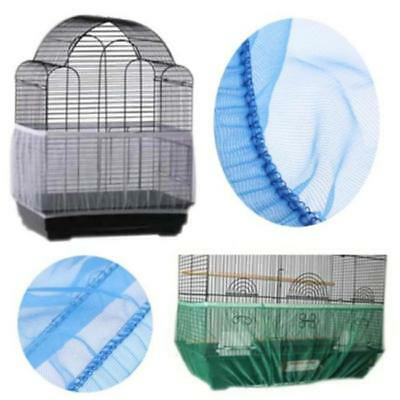 Airy Fabric Mesh Pet Bird Parrot Cage Protection Cover Seed Catcher Guard Net QK