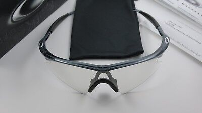 51b517c083a Oakley M Frame Crystal Black Clear to Black Photochromic Transitions Sweep  NEW