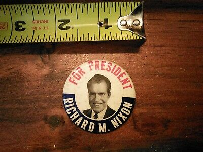 1968 Richard M. Nixon for President Campaign Button B
