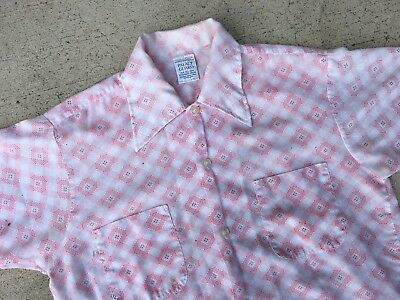 Vintage 1970s Button Down Shirt Mens L
