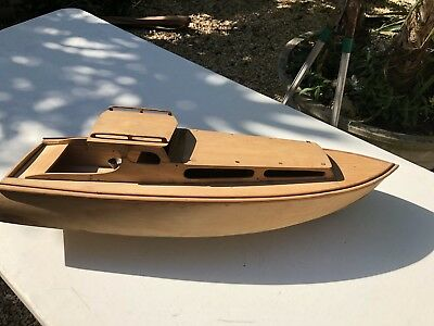 Antique Vintage Model Timber Motor Cruiser With Steam Engine Good Condition