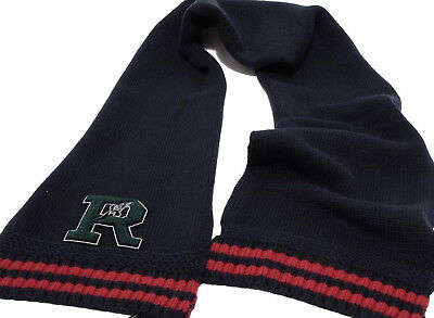 NWT Polo Ralph Lauren Boy's Scarf Navy Blue Cotton / Wool Blend