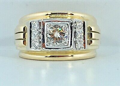 1.00 ct NATURAL DIAMOND  mens pinky ring SOLID 18k yellow GOLD (vs quality)