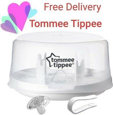 Tommee Tippee Closer to nature Microwave STEAM STERILISER BRAND NEW baby bottles