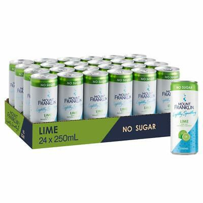 Mount Franklin Lightly Sparkling Water Lime, Multipack Mini Cans 24 x 250mL NEW