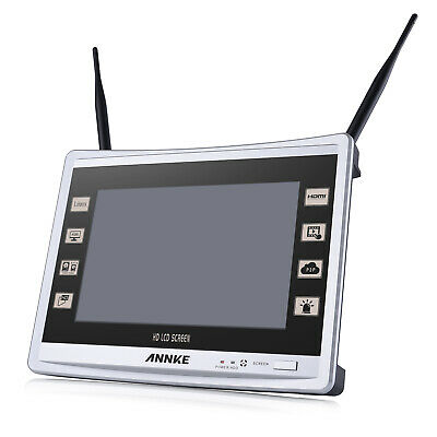 "Refurbished ANNKE 4CH 1080P 2MP Wireless NVR 11"" LCD Screen WiFi Security System"