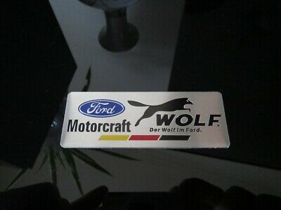 Ford Racing Wolf Motorcraft Badge Sticker Decal Fpv Performance Falcon Focus