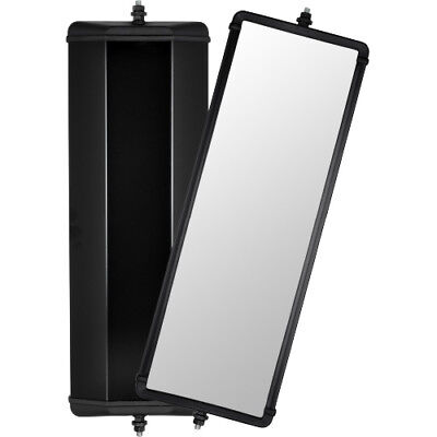 "Britax Mirror Head Black Steel Flat Glass 18"" 1421100 Truck Caravan West Coast"