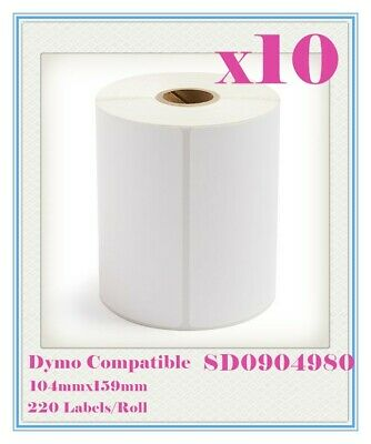 10 Compatible for Dymo 4XL SD0904980 Large Label 104 x 159mm