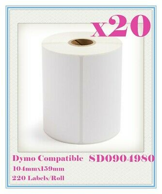 20 Compatible for Dymo 4XL SD0904980 Large Label 104 x 159mm