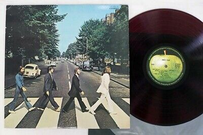 BEATLES ABBEY ROAD APPLE AP-8815 Japan Red Vinyl VINYL LP