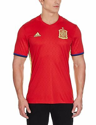 adidas Men's FEF H 2015 2016 Spain Home Jersey T Shirt Football Tee Red Yellow