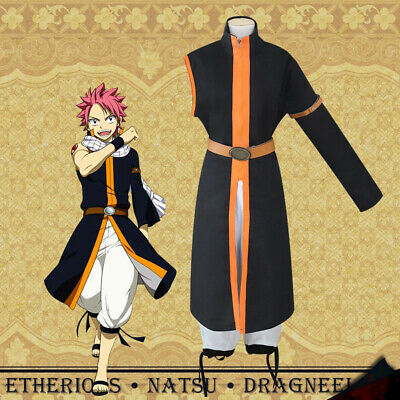 Fairy Tail Natsu Dragneel Cosplay Outfit Costume Fancy Dress Up Anime Mens Kawai