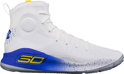 Under Armour Curry 4 Mens Basketball Shoes White Breathable Lightweight NBA