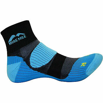 More Mile London Running Socks Mens Womens Cushioned Support Sports Sock's Neon